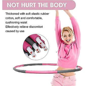 الوردي الموزون هولا هوب البطن ممارس اللياقة البدنية الأساسية قوة هوولا