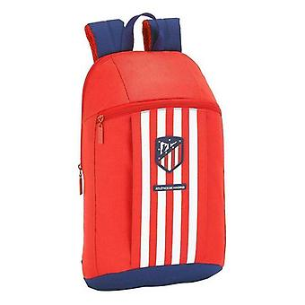 Casual backpack atlético madrid blue white red
