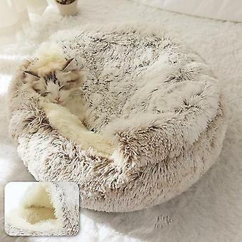 Plüsch geschlossen Kunstpelz Haustier Bett für kleine Hunde und Katzen
