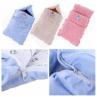 Bebé recién nacido otoño invierno espesando suave cómodo saco de dormir para niños pequeños