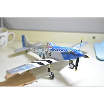 mini rc fly laser kuttet balsa tre fly kit P51 P-51 modell byggesett