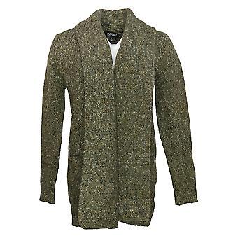 Buffalo Women's Sweater Open Front Cardigan Green