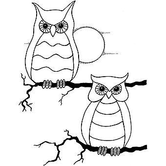 Lindsay Mason Designs Zendoodles Owl Buddies Clear Stamp