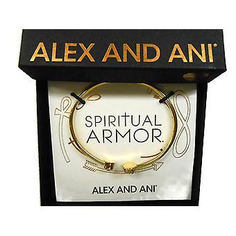 Alex and Ani Cross Cuff Bracelet 14KT Gold Plated - PC17CF02G