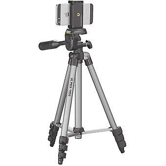 HanFei ALPHA 1000 Stativ mobil m. Smartphonehalter (3 Auszge, Gewicht 480g, Tragfhigkeit 1 kg, 106cm