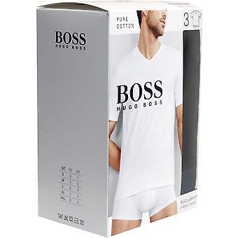 BOSS 3-Pack Regular-Fit V-Neck T-Shirts, schwarz