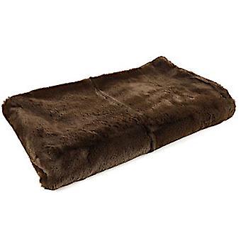 plaid Jozias 154 x 130 cm fleece brown