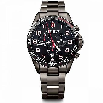 Relógio masculino Victorinox FIELDFORCE SPORT em aço preto