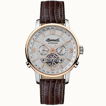 Ingersoll I00701b The Grafton Automatic Rose Gold & Brown Leather Mens Watch
