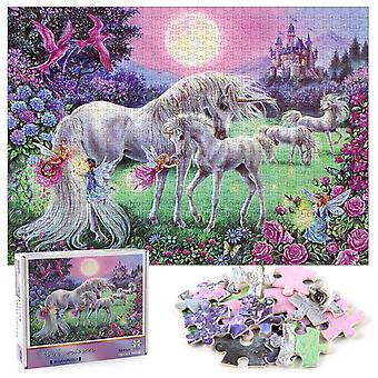Unicorn Pegasus legpuzzel, 1000 stuks educatieve decompressie puzzel, wanddecoratie