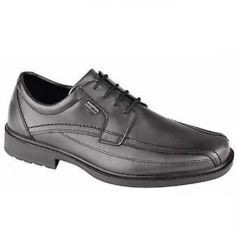 IMAC Reginald Mens Leather Wide Fit Apron Shoes Black