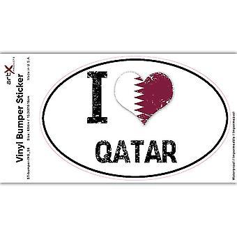 Gift Sticker: I Love Qatar Heart