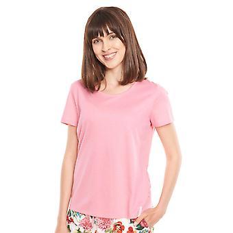 Rösch Vær lykkelig! 1212011-10012 Kvinner's Rosa Bomull Pyjamas Topp