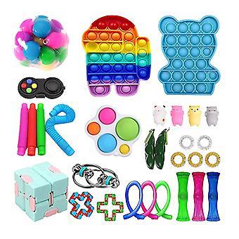 30st Pack Fidget Leksaker Sensory Toy Set Antistress Relief Fidget Leksaker