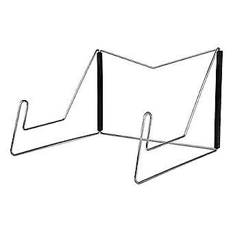Silver Book Stand Kogebog &tabletholder justerbar med 2 metal sideholdere