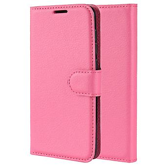 Pu leather magsafe case for iphone 8 plus rose red pc790