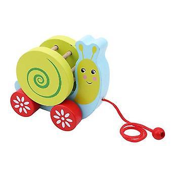 Pindsvin Snail Toddler Cart Baby Creative Træk Kabel Legetøj Nyhed Interessant Legetøj| Blokke