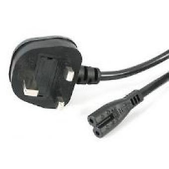 StarTech 1m Laptop 2 Ranuras C7 Cable de alimentación (BS-1363 Uk Plug)