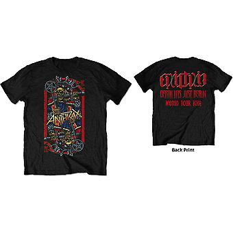 Anthrax - Evil King World Tour 2018 Men's Large T-Shirt - Black