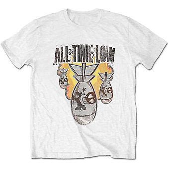 All Time Low - Da Bomb Unisex Pieni T-paita - Valkoinen