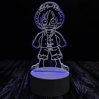 Et stykke barn Luffy Usb 3d Anime Night Light Atmosfære Led Bordlampe