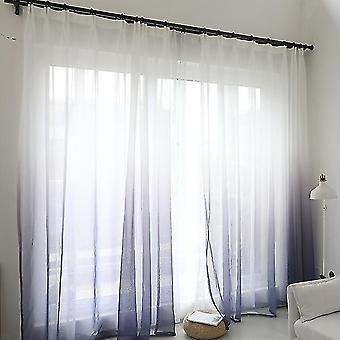 uudet grommets top violetti tylli verho moderni kodin sisustus kaltevuus väri ikkuna tylli verhot sm53309