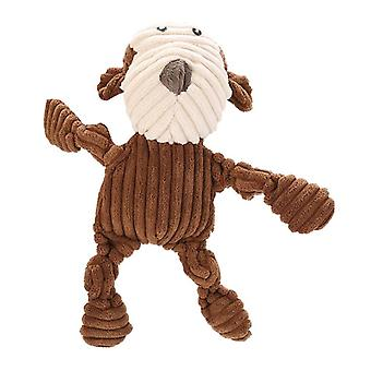 Plush Corduroy Durable Squeaky Dog Toy For Aggressive Chewers