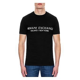 Armani Exchange A x Mens Milano New York T-shirt Svart