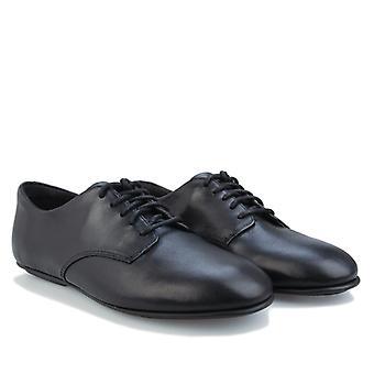 Damskie buty Fit Flop Adeola Leather Lace Up Derby w kolorze czarnym