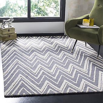 Safavieh Cambridge Wool Area Rug Grey White 1.52 x 2.43m Modern Zig Zag Pattern
