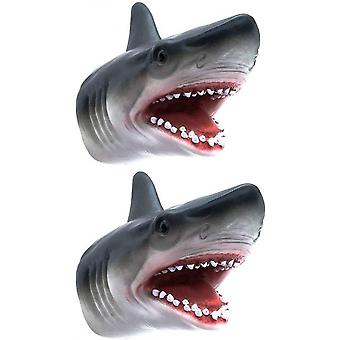 Shark Hand Puppet Toys, Shark Puppets Role Play Toy , Soft Rubber Realistic Sea Animal Shark Head 7 Inch