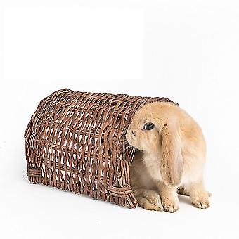 Lemmikki kani Pesä Marsu Häkki Käsintehty paju puolikanavan pesä