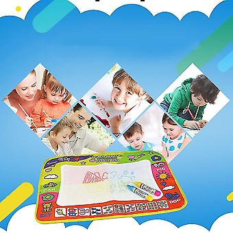 29 * 45.5cm Enfants écrire dessiner peinture magique Doodle Mat bébé tapis de jeu avec stylo magique