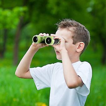 Binoculars 8x21 - Shockproof Compact Binoculars For Kids With High Resolution Optics(Green)