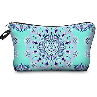 Cosmetic Bags For Women, Travel Toiletry Organizer With Zipper (mandala Flower Design)(Color1)