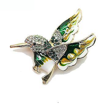 Corsage kolibri hölgyek bross festett ötvözött bross csap