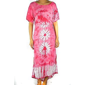 Krawatte Farbstoff Maxi Kleid Boho Kaftan Hippie Kleid