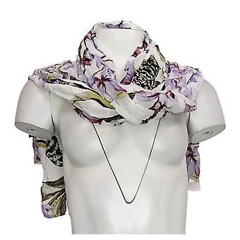 G van Giuliana Scraf Fit All Flower Print White 741895