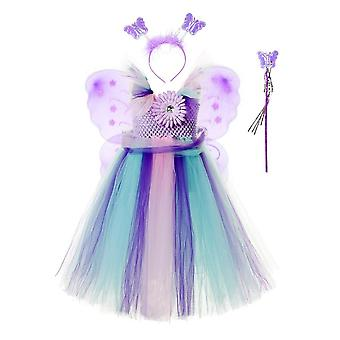 Yesfit Unique Girls Dress Up Butterfly Princess Cosplay Costume Fairy Dress