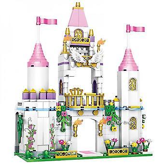 Dívky Přátelé Princess's Ice Playground Castle House Set Movies Horse Dolls Diy Stavební bloky Hračky
