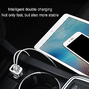 Hoco Z3-2u Dual Usb Ports Car Charger Lcd Display Voltage Current Tester