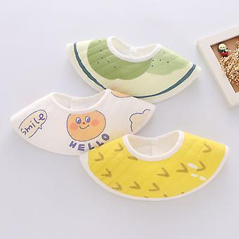3pcs Baby Petal Bibs 360 degrés Rotatif Multicolore Coton, pingouin