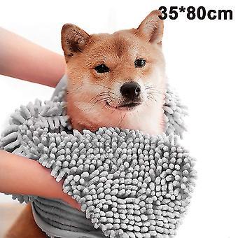 Ultra saugfähig Schnell Trocken Haustier Badetücher Weiche Chenille Material Hand