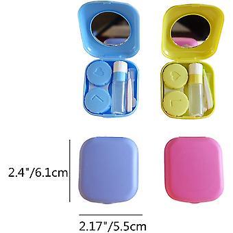 Portable Mini Contact Lens Travel Kit Case Pocket Size Soaking Box