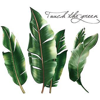 3d tropiske blader vegg klistremerke hjem dekal (størrelse: 88cm x 78cm)