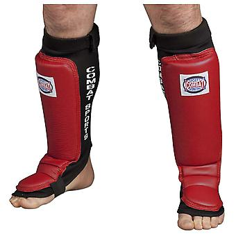 Combat Sports Training MMA Shin Instep Guards - Red