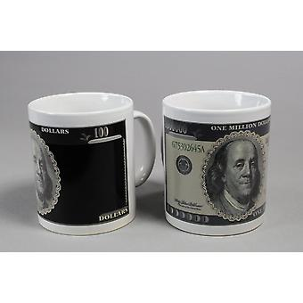 Bani Cupa ceașcă de schimb motiv milionar ' s ceașcă de bancnote glumă element