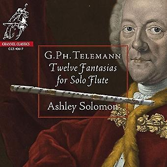 Telemann / Solomon, Ashley - 12 Fantasias for Solo Flute [CD] USA import