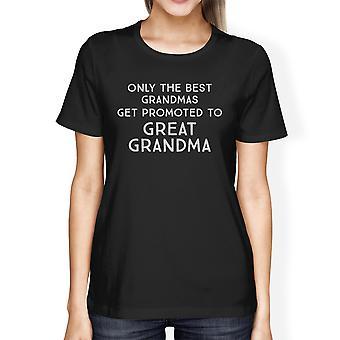 رقي إلى عظيم شيرت هدية الجدة الحمو القطن النسائي المحملة
