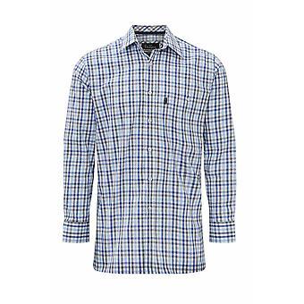 Champion Mens Dartmouth Country Casual Long Sleeve Shirt XXL Navy Check